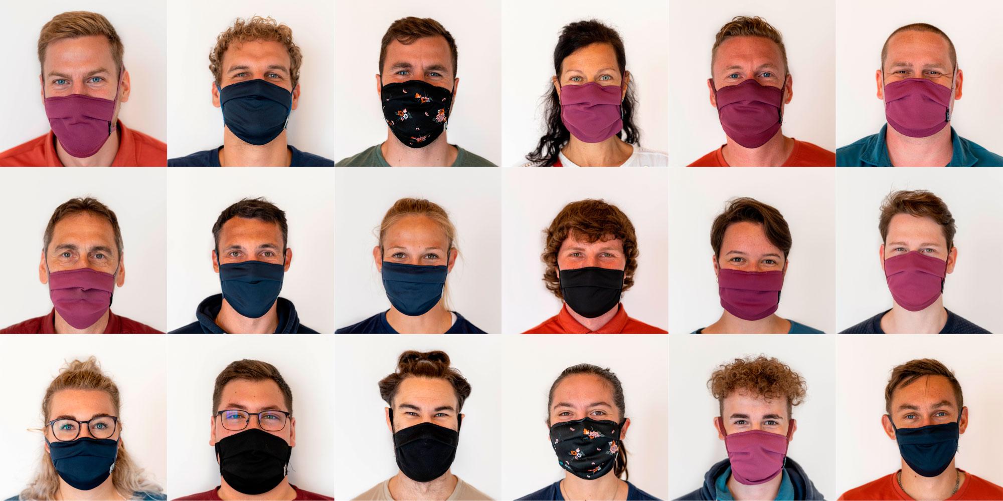 Die Mimik unter der Maske